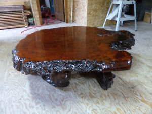 For sale maple burl coffee table. Beautifully done, Great shape.