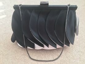 Coast couture black & white clutch