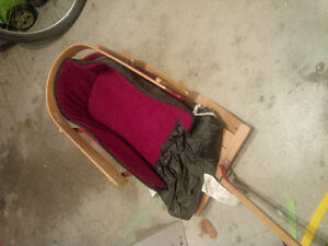 Baby sled with bunting bag