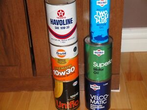 Mint condition oil cans