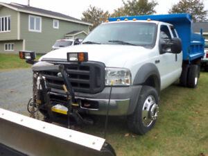2005 ford f 550 4wd dump truck 10 ft pow fisher plow $24.900.00