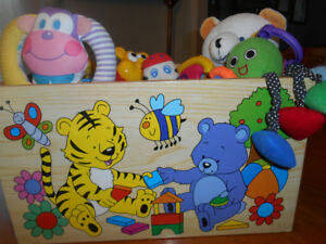 Winnie the pooh toybox with infant toys