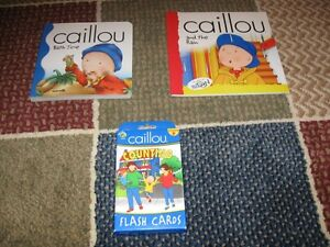 Caillou book and flash cards Edmonton Area image 1