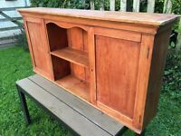 Cabinet; Antique Old Pine cupboard & shelves. Kitchen, bathroom, anywhere really!