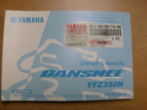 2001 YAMAHA YFZ350 BANSHEE OWNERS MANUAL
