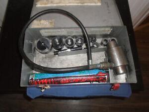 Kit de perforateur hydraulique GRENNLEE de 1/2'' a 2''