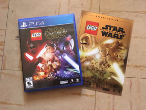 Lego Star Wars force Awakens PS4 With Collectors Card