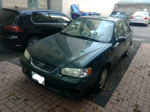She goes, she stops. 2001 Toyota Corolla looking for some TLC