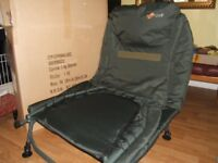 Cyprinus wide camp bed with memory foam mattress, NEW.