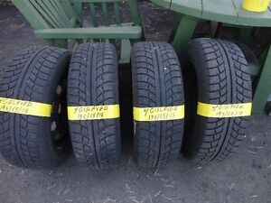 4 WINTER TIRE WITH RIMS OFF VW GOLF 195/65/R15