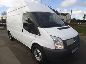 2013 FORD TRANSIT 2.2 TDCI 100 RWD 350 LWB HIGH ROOF**BUY FROM £47 P/W** PANEL V