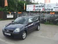 2004 RENAULT CLIO EXPRESSION 1.2L ONLY 90,445 MILES, IDEAL 1ST CAR