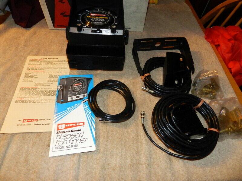 Vintage Garcia Electro Sonic Fish Finder Model 9350 Never Us