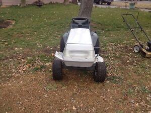 White outdoor 12 Hp riding Lawn mower  Belleville Belleville Area image 3