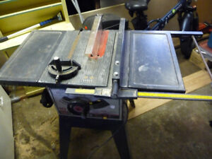 "10"" CRAFTSMAN TABLE SAW WITH STAND"
