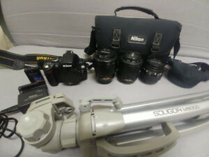 Nikon D40x DSLR Camera Kit with 3 kinds of Lense and Tripod