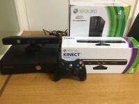 Xbox 360 With controller and Kinect. Excellent Condition.