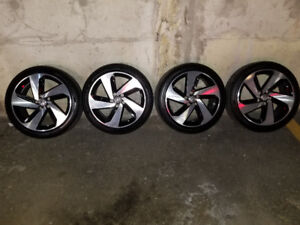 VW Milton alloys w/ Pirelli P7 Cinturato(Brand new take offs)