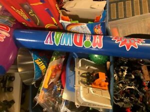 Toys- bin full of miscellaneous toys ages 4-8 yrs approx