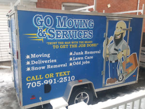 Snow removal service - price list included