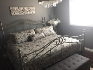 Bombay King Bed and Mattress Set