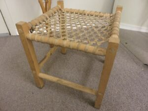 VINTAGE TRADITIONAL BABISH AND WOOD SMALL STOOL OR CHAIR