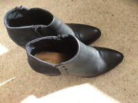 Black TU Ankle Boots Size 7