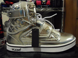 Brand New Silver Vlado Atlas Skate Shoes