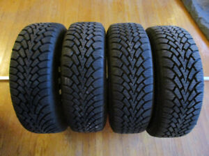 4x Goodyear Nordic Winter Tires - 195/60R15 - On Steel Rims
