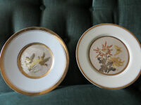 Gold Trimmed Asian Scene Collectible Plates