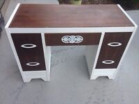 Vintage waterfall solid wood desk