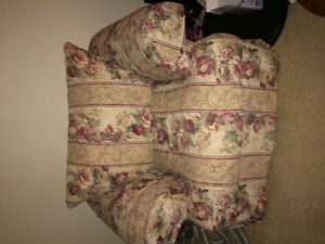Large sofa and chair floral, great condition