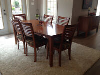 Solid Wood Dinec Dining Table and Chairs