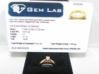 14KT Gold, Diamond Engagement Ring Set with Appraisal