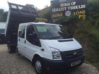 2014 63 Ford Transit 2.2TDCi ( 125PS ) 350EF Double Cab 350 LWB DROPSIDE TIPPER