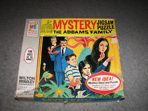 Vintage Mystery Puzzle The Addams Family 1965