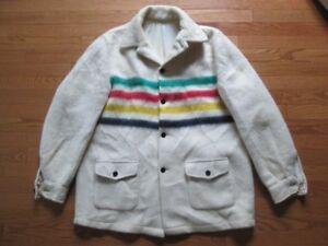 Hudson's Bay Company HBC 4 point stripe Blanket Wool Coat Jacket