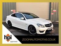 2013 Mercedes Benz C63 AMG 6.3 ( 457bhp ) Coupe + White + Low Mileage C 63
