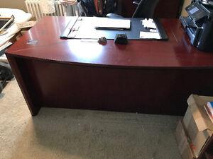 Steelcase wood office desk