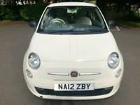 2012 White Fiat 500 Pop CHEAP First Car Low TAX And Insurance Great MPG