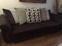 Dfs solid 4 setter and swivel chair like new