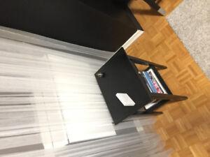 Black IKEA side table