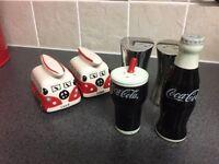 Funky salt and pepper sets