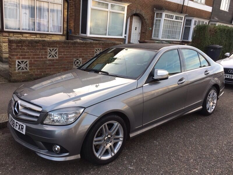 2008 mercedes c200 amg sport automatic diesel xenons black roof in luton bedfordshire. Black Bedroom Furniture Sets. Home Design Ideas