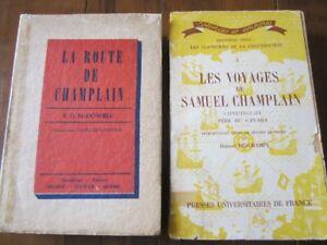 TROIS OUVRAGES SUR SAMUEL DE CHAMPLAIN pour 10,00 $