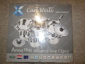 Carl Weill pot and pan set
