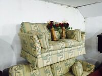 As new fabric 3 and 2 sofas