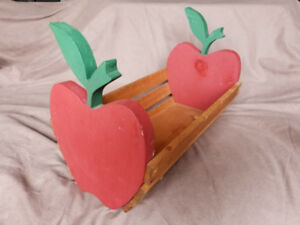 Wooden Apple Shaped Basket