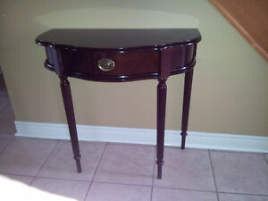 LIKE NEW BOMBAY D SHAPED ENTRANCE HALLWAY TABLE W/DRAWER