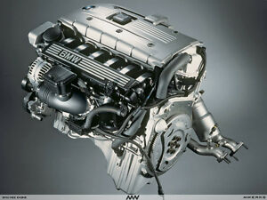 Complete BMW N52B30 3.0 litre I6 engine assembly